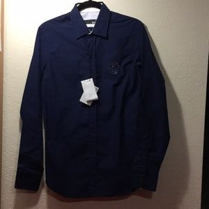 Love Moschino Men's Navy Long Sleeve Button Shirt